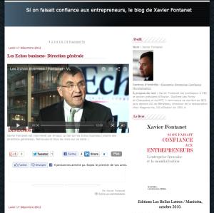 le blog du livre de Xavier Fontanet